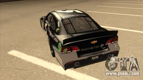 Chevrolet SS NASCAR No. 5 Time Warner Cable for GTA San Andreas back view