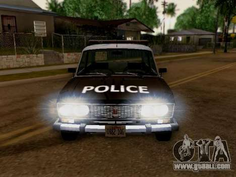 VAZ 2106 Los Santos Police for GTA San Andreas back view