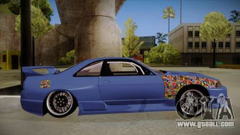 Nissan Skyline R33 JDM for GTA San Andreas back left view