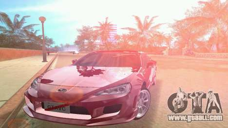 Subaru BRZ Type 3 for GTA Vice City back left view