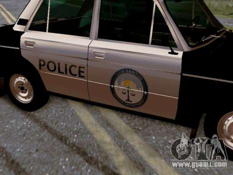 VAZ 2106 Los Santos Police for GTA San Andreas bottom view