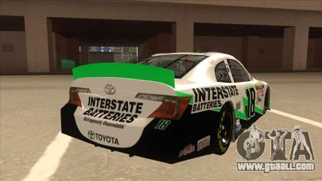 Toyota Camry NASCAR No. 18 Interstate Batteries for GTA San Andreas right view
