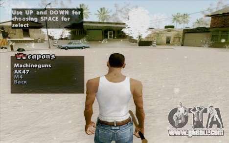 Weapons Menu Mod for GTA San Andreas second screenshot