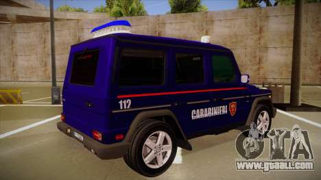 Mercedes Benz G8 Carabinieri for GTA San Andreas right view