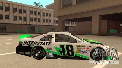 Toyota Camry NASCAR No. 18 Interstate Batteries for GTA San Andreas back left view