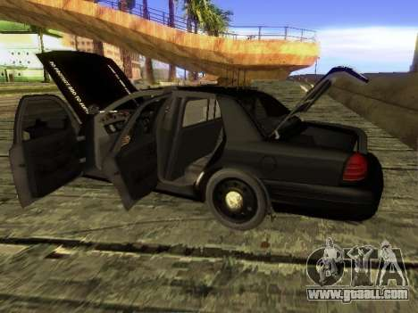 Ford Crown Victoria Police Interceptor for GTA San Andreas back left view