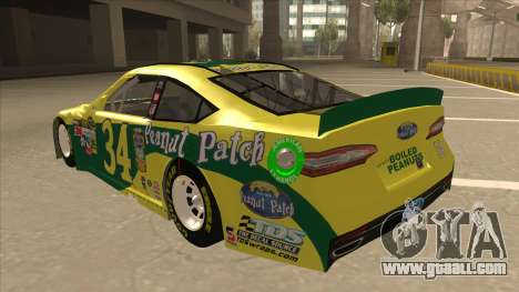 Ford Fusion NASCAR No. 34 Peanut Patch for GTA San Andreas back view