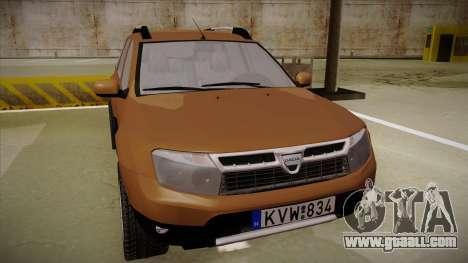 Dacia Duster Elite for GTA San Andreas left view