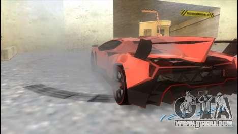 Lamborghini Veneno for GTA Vice City back left view