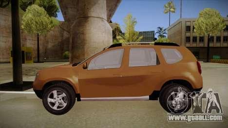 Dacia Duster Elite for GTA San Andreas back left view