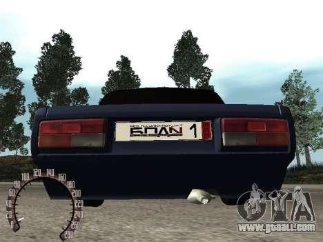 VAZ 2107 BPAN for GTA San Andreas inner view