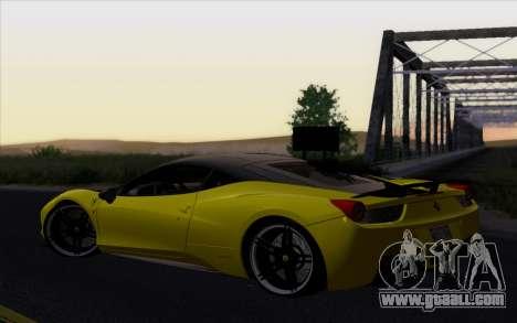 Ferrari 458 Italia Novitec Rosso Carbon for GTA San Andreas left view