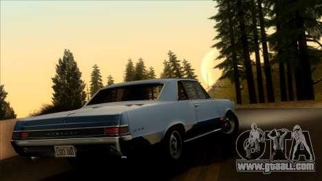 Pontiac Tempest LeMans GTO Hardtop Coupe 1965 for GTA San Andreas left view