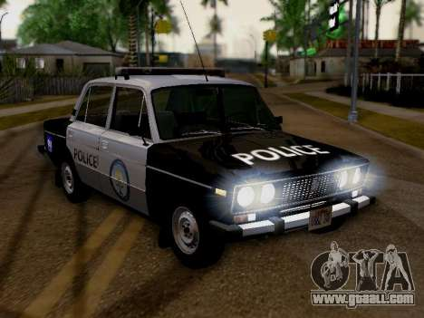 VAZ 2106 Los Santos Police for GTA San Andreas right view