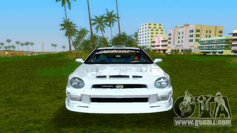 Subaru Impreza WRX v1.1 for GTA Vice City inner view