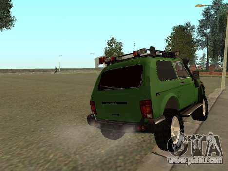 VAZ 21213 Niva 4 x 4 Off Road for GTA San Andreas back left view
