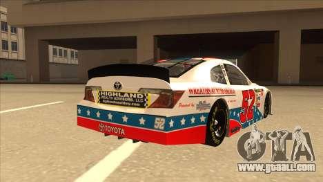 Toyota Camry NASCAR No. 52 TruckerFan for GTA San Andreas right view