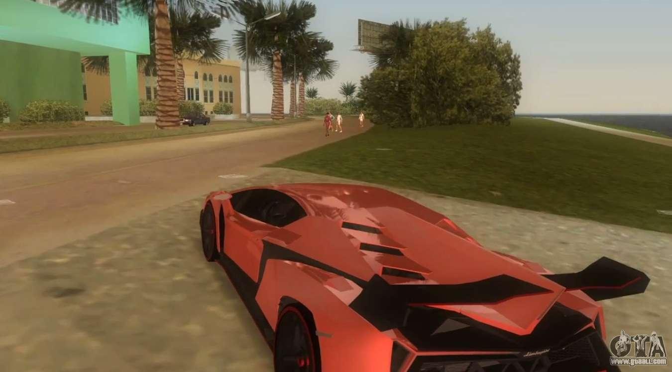 Lamborghini Veneno For GTA Vice City Right View