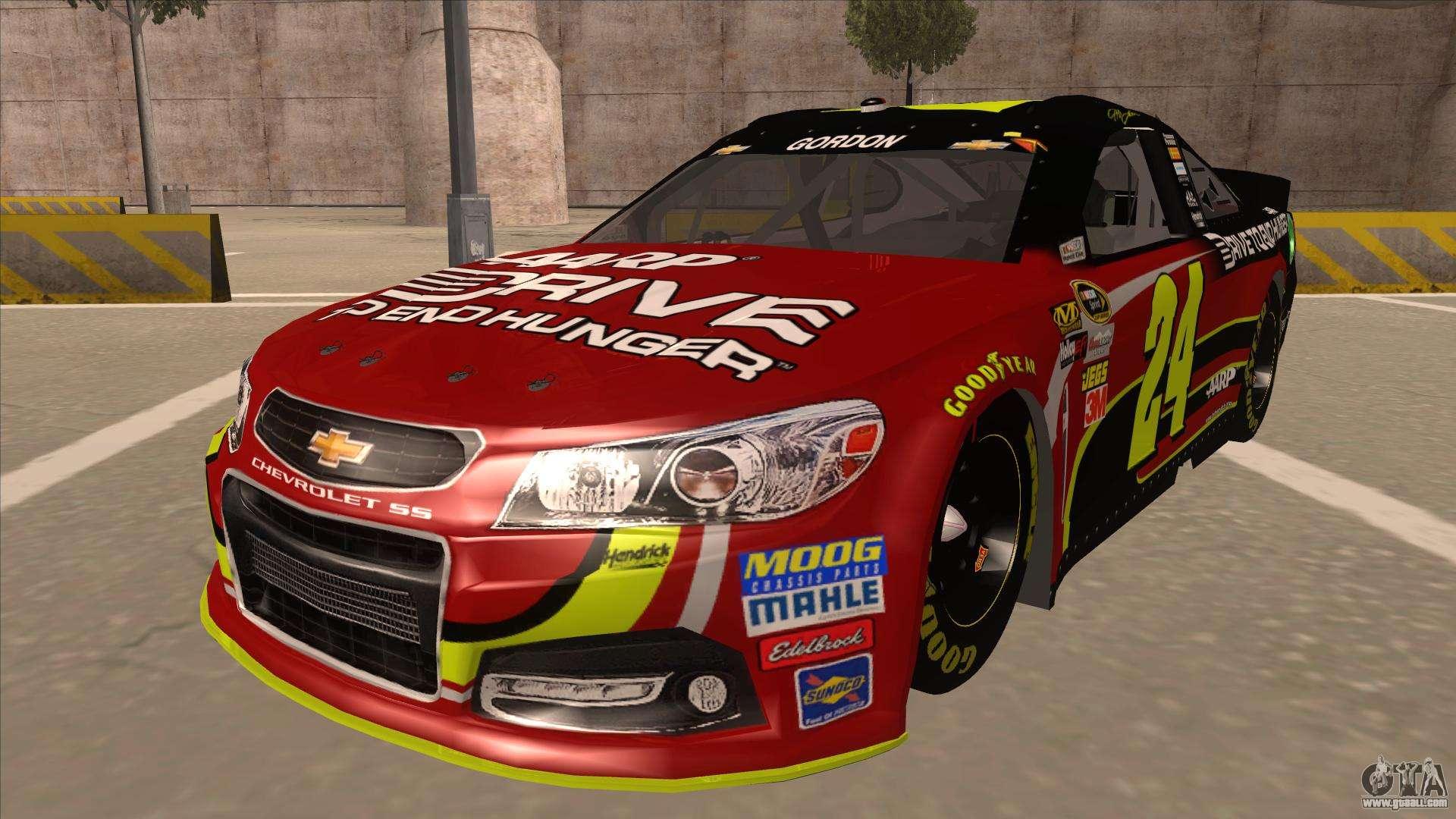 Jeff Gordon Chevrolet >> Chevrolet SS NASCAR No. 24 AARP for GTA San Andreas