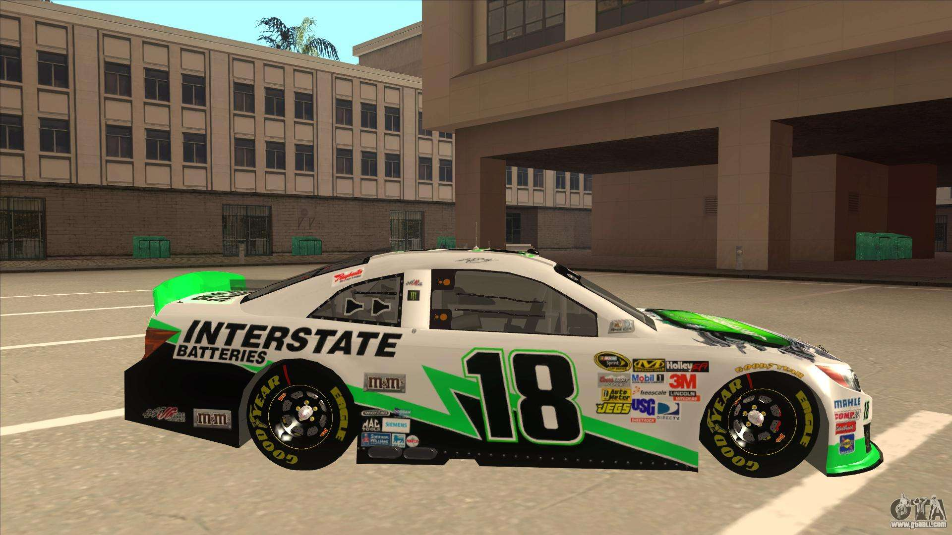 Toyota Camry Nascar No 18 Interstate Batteries For Gta