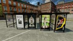 Real advertising at bus stops