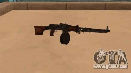 Light machine gun (RAP) [citation needed] for GTA San Andreas