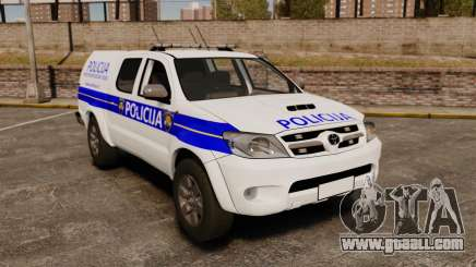 Toyota Hilux Croatian Police v2.0 [ELS] for GTA 4