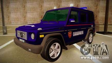 Mercedes Benz G8 Carabinieri for GTA San Andreas