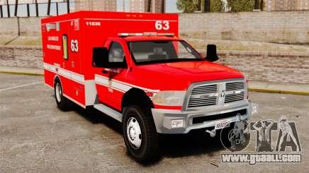Dodge Ram 3500 2011 LAFD Ambulance [ELS] for GTA 4