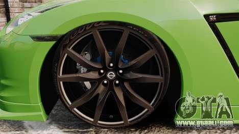 Nissan GT-R SpecV 2010 for GTA 4 back view