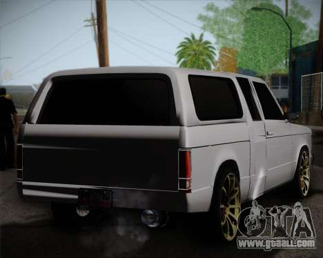 Isuzu KB for GTA San Andreas back left view