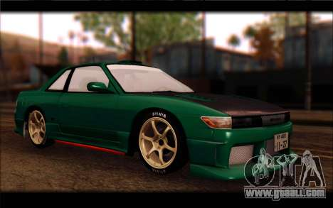 Nissan Silvia Drift for GTA San Andreas back left view