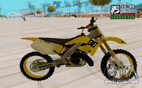 Suzuki RM 250 for GTA San Andreas back view