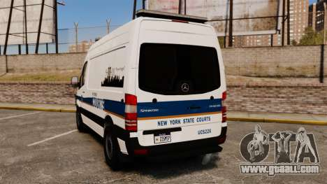 Mercedes-Benz Sprinter 2500 Prisoner Transport for GTA 4 back left view