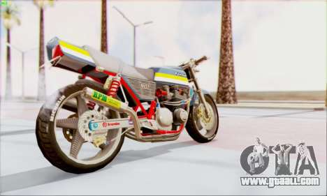 Kawasaki Z-400FX Custom for GTA San Andreas left view