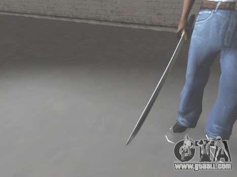 CSO Katana for GTA San Andreas third screenshot