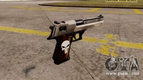 Desert Eagle semi-automatic pistol Punisher for GTA 4 second screenshot