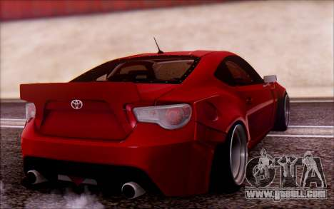 Toyota GT86 Rocket Bunny v2 for GTA San Andreas left view