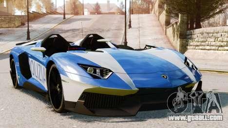 Lamborghini Aventador J Police for GTA 4 upper view