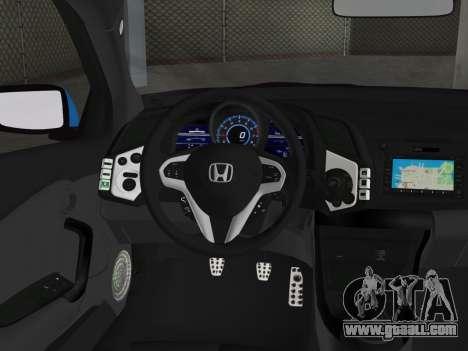 Honda CR-Z 2010 for GTA Vice City back left view