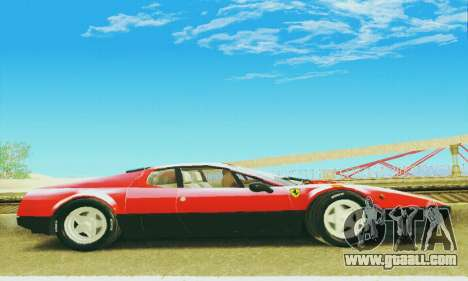 Ferrari 512 BB for GTA San Andreas inner view
