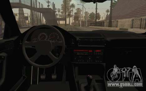 BMW E34 Alpina for GTA San Andreas inner view