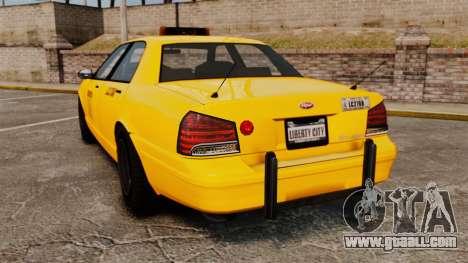 GTA V Gen Vapid LCC Taxi for GTA 4 back left view