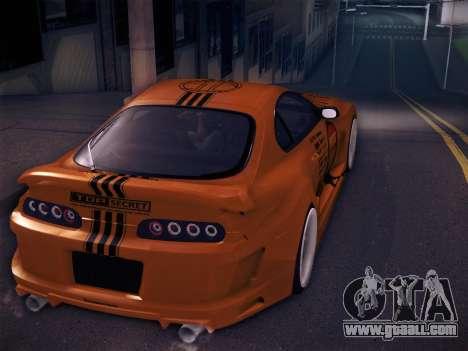 Toyota Supra Top Secret V12 for GTA San Andreas engine