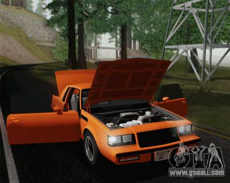 Buick GNX 1987 for GTA San Andreas interior