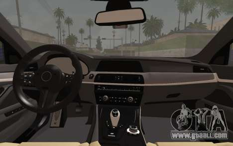 BMW M5 F10 v2 for GTA San Andreas right view