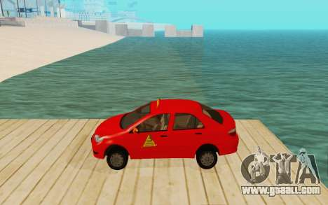 Toyota Vios Taxi Costa Rica for GTA San Andreas left view