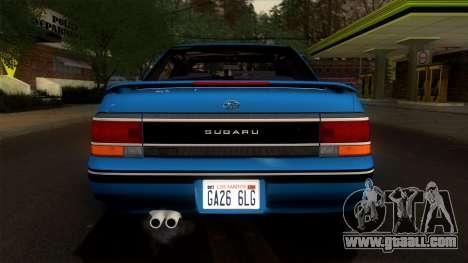 Subaru Legacy 2.0 RS (BC) 1989 for GTA San Andreas inner view