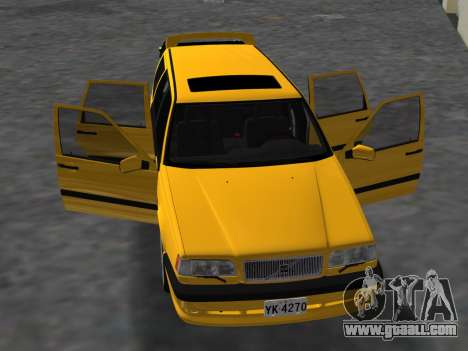 Volvo 850 R Estate for GTA Vice City inner view