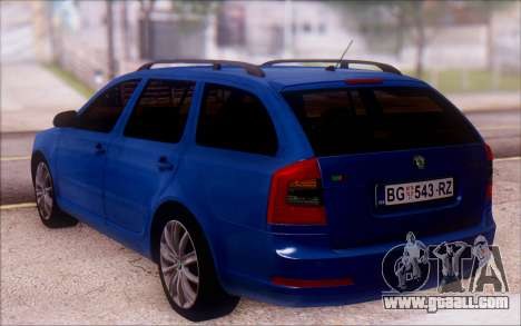 Skoda Octavia RS Kombi 2010 for GTA San Andreas left view
